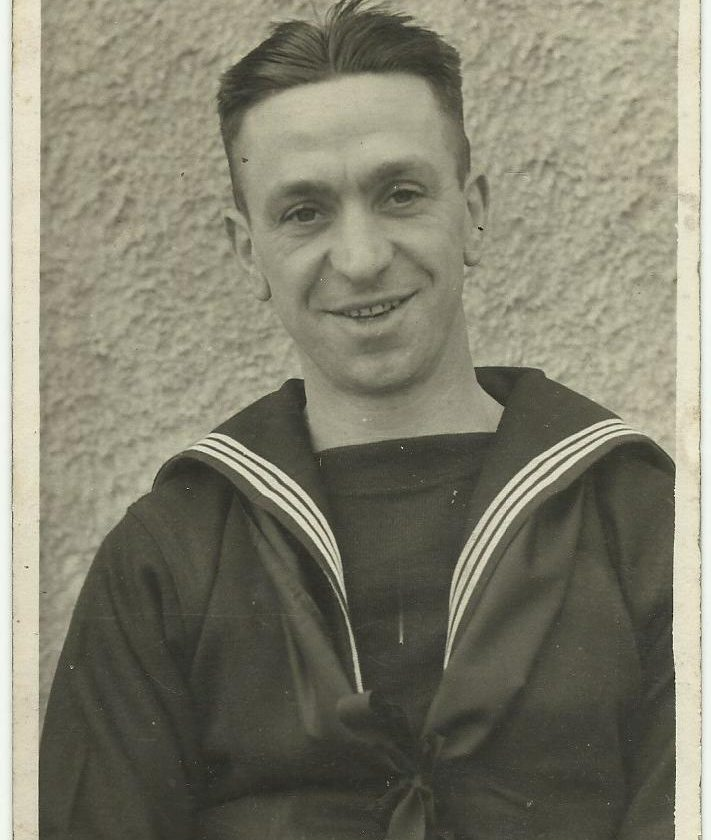 Jack Roscoe during his time in the Royal Navy